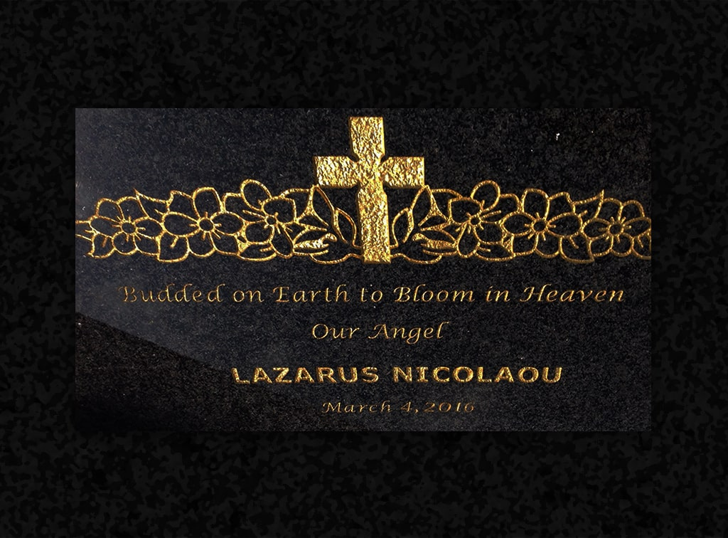 6.raincoast-memorials-quality-granite-pillow-memorial-black-gold-cross-min